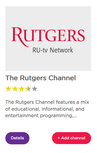 Roku Rutgers RU-tv Network Channel